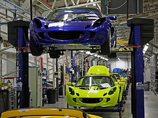 Lotus car assembly