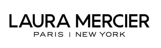 a black and white logo of Laura Mercier